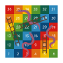 Snakes and Ladders 1-36 Solid