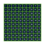 Numbers 1-100 Playground Markings Grid (Option Five)