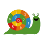 Numbers 1-10 Playground Markings Snail