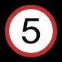 5 MPH Sign
